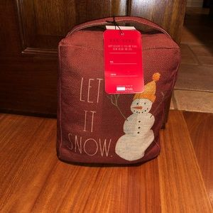 Rae Dunn LET IT SNOW Door Stopper